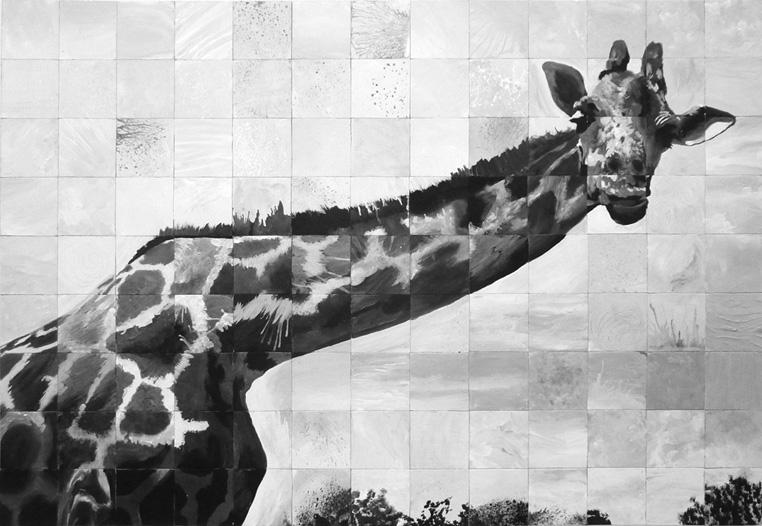 Giraffe-painting